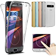 Galaxy Note 8 Case,ikasus [Full-Body 360 Coverage Protective] Crystal Clear Ultra-Slim Scratch-Resistant Front + Back Full Coverage Soft Clear TPU Silicone Rubber Case Cover for Galaxy Note 8,Clear