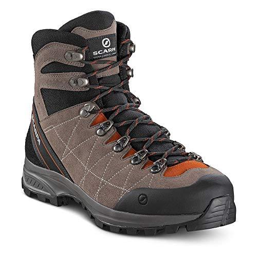 SCARPA R-Evolution GTX, Stivali da Escursionismo Alti Uomo, Oro Perlato Cigar Rust Gore Tex Bag Biometric Trek, 42.5 EU