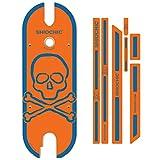 SHIOCHIC -Orange Skull - Accesorio para Patinete Eléctrico, Compatible con Xiaomi m365 Essential y 1S- Personaliza tu Patinete