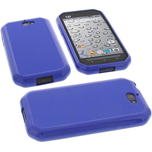 foto-kontor Tasche für CAT S30 Hülle Gummi TPU Schutz Handytasche blau