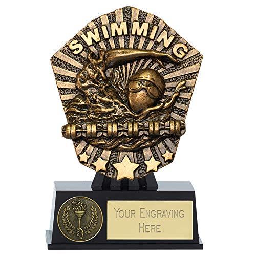 Womack Graphics PK171 - Mini trofeo per nuoto Cosmos da 12,5 cm, con incisione gratuita fino a 50 lettere