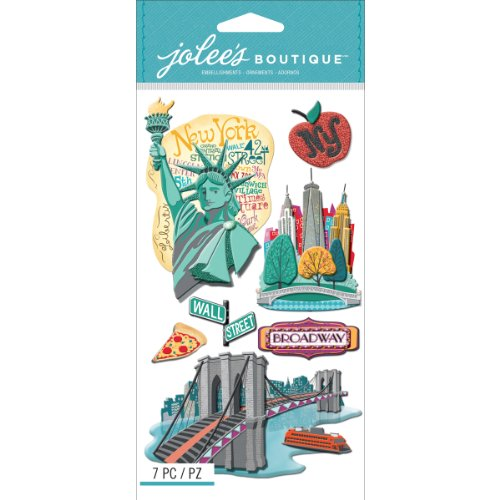 Jolees Boutique Dimensional Stickers-New York