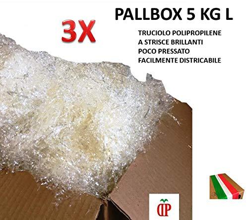 TRUCIOLO POLIPROPILENE TRASPARENTE 15 KG Paglia sintetitica per ceste natalizie e confezioni regalo