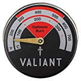 Valiant Magnetic Log Burner & Stove <span class='highlight'>The</span>rmometer-Red, 63mm