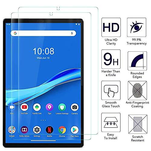 Ash-case Screen Protector for Lenovo Tab M10 FHD Plus 10.3, Glas Displayfolie, 9H Härte, Anti-Kratzer, Anti-Öl, Anti-Bläschen, 2.5D Runde Kante, for Lenovo Tab M10 FHD Plus Tablet [2 Stück]