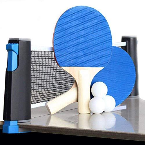 Draagbaar Indoor Outdoor Travel Tafeltennisspel Intrekbaar net 2 Pingpongracket 6 Ballen 1 Universele opbergtas Thuis Fitnessapparatuur Sport Oefening Ogen en reactievermogen