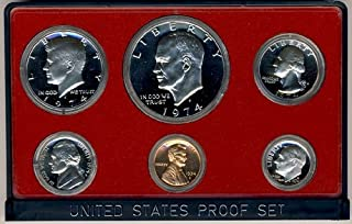 1974 S Clad Proof 5 Coin Set in Original Government Packaging Proof