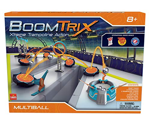 Goliath Boomtrix Multiball Kinetic Metal Ball Chain Reaction Stunt Kit - Fun - Educational - STEM