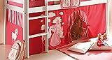 AVANTI TRENDSTORE - Konrad - Tendina Decorativa per Letto a soppalco per Bambini, Stoffa in Cotone con Diversi Motivi. (Rosa-Pink)