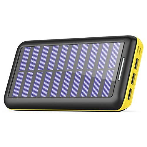 Caricabatterie Solare Power Bank, BERNET 24000mAh Portatile...