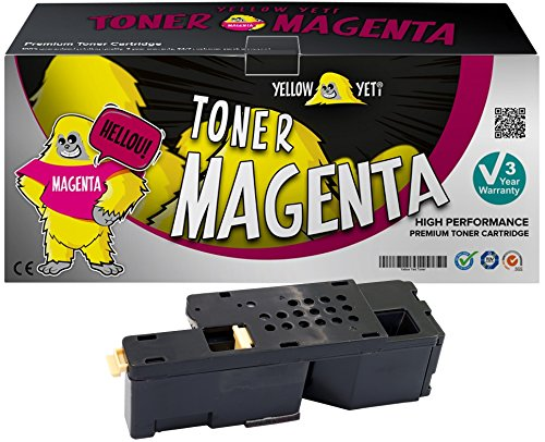 Yellow Yeti 593-11018 (1,400 Pages) Compatible Magenta Toner Cartridge for use with Dell C1765nfw C1765nf C1760nw 1250c 1350cnw 1355cn 1355cnw