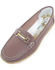 Damer/kvinnors läder smart/vardaglig/sommar slip-on skor