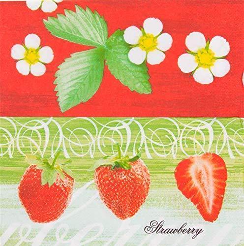 Everflag Restaurant-Servietten Erdbeeren 100er Pack