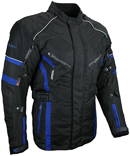 HEYBERRY Herren Touren Motorradjacke Textil schwarz blau Gr. M