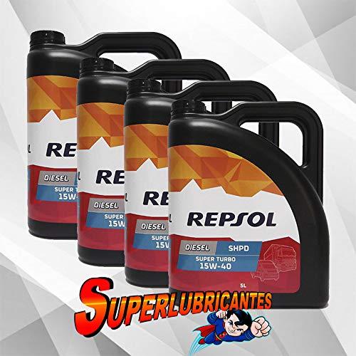 Mundocoche Repsol Elite Diesel Super Turbo 15W40 SHPD 4x5L(20Litros)
