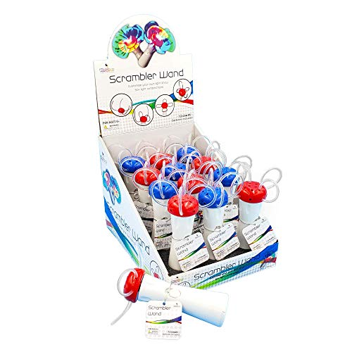 WeGlow - Spinning Light Up Wand - Illuminating LED Spin Kids Toy - Fun Stuffers for Goodie Bags, Birthday Party Favors, Carnival Prize - Batteries Included - 12 Pack