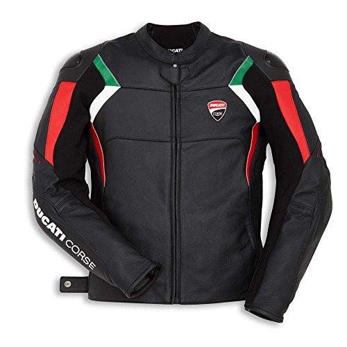 Ducati Corse C3 Lederjacke perforiert schwarz/rot/weiß Größe 50