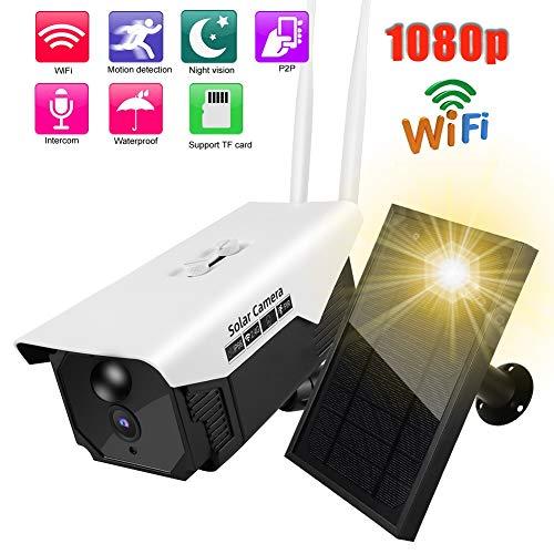 Zonne-energie draadloze buiten 180P HD WiFi IP waterdichte camera, buiten op zonne-energie batterij gevoede bewakingscamera, 2.4G draadloze camera Bewegingsdetectie/tweeweg spraakintercom