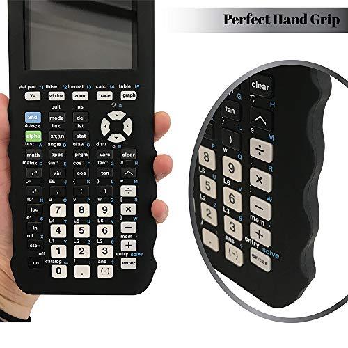 Silicone Case for Ti 84 Plus CE Calculator (Black) - Cover for Texas Instruments Ti-84 Graphing Calculator - Silicon Skin for Ti84 Plus - Protective & Anti-Scretch Cases - Ti 84 Accessories by Sully Photo #5