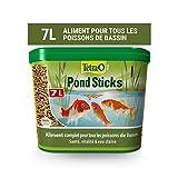 Tetra Pond Sticks – Alimentation Quotidienne idéale pour tous les Poissons de Bassin – Enrichi en Oligo-éléments, Vitamines essentiels, Caroténoïdes – Ne pollue pas l'eau – 7 L