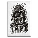 ZSBoBo Póster de Darth Vader de Star Wars Blueprints, Darth Vader y exquisito, de lona, de 30 x 45 cm, enmarcado o sin marco