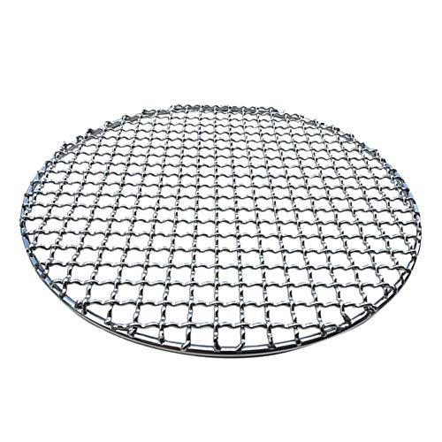 jiashemeng Grillpfanne, Runder Grillrost Aus-Rostfreiem Stahl, Gebratenes Maschennetz, Antihaft-Grillbackform 38cm