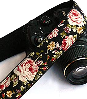 Roses Camera Strap. DSLR Camera Strap. Padded Camera Strap. Gift for Her. Gift Idea. Photo Camera Accessories; 158