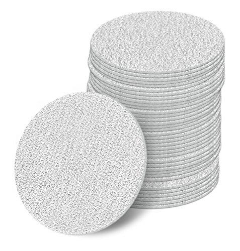 100 Stück 50 mm Exzenter Schleifscheiben P80 Körnung ohne Lochung Haft Klett Schleifpapier
