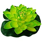 meide-group-usa-12-inch-xlarge-floating-lotus-lily-pad-foam-flowers-for-ponds-weddings-pool-and-garden-decor-set-of-2-green