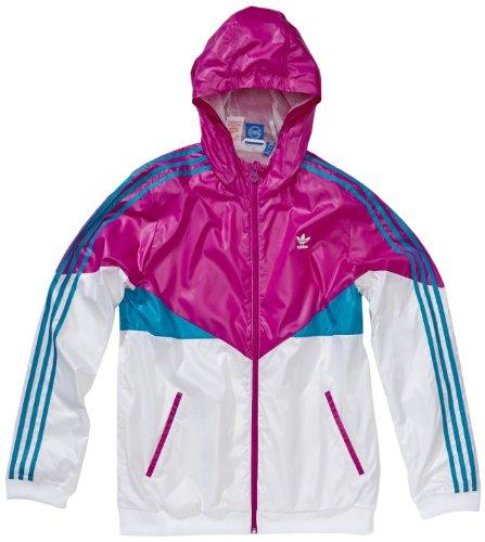 adidas-Giacca a Vento da Bambino Colorado Multicolore Blanc/Turquoise/Rose 164