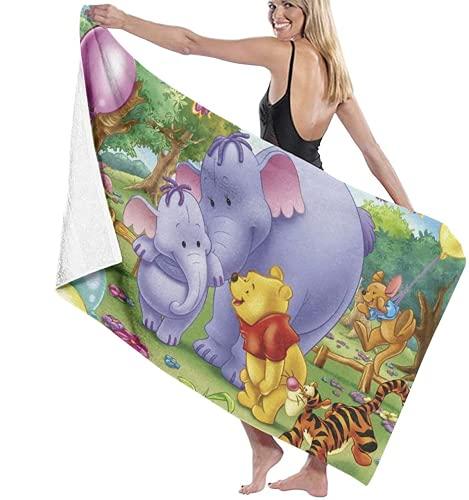 QWAS Winnie The Pooh - Toalla de playa superabsorbente de lujo de secado rápido, manta grande, para niños y adultos (Winnie6,70 × 140 cm)