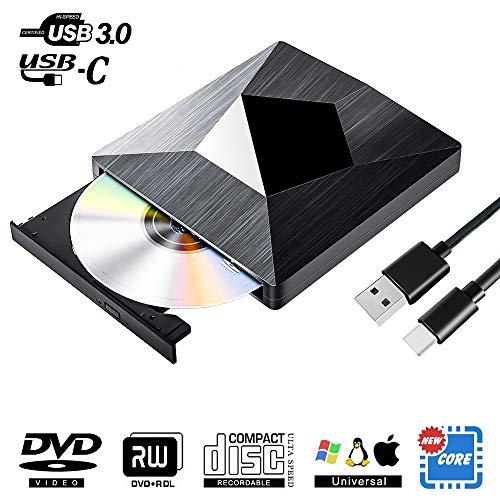 classement un comparer External USB 3.0 Type C CD drive, external portable Superdrive DVD RW CD, inline …