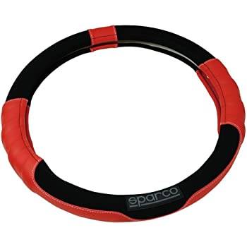 Sparco S101 Universal Lenkradabdeckung Für Autos Rote Farbe Auto