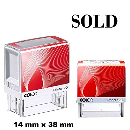 Verkauft selbstfärbende Stempel Custom COLOP Büro stationären 14 X 38 MM schwarz