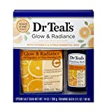 Dr Teal's Glow & Radiance with Vitamin C & Citrus Epsom Salt Soaking Solution and Foaming Bath Gift Set