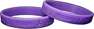 50 Pack Migraine Awareness Purple Silicone Bracelets - Adult Size (Wholesale Pack - 50 Bracelets)