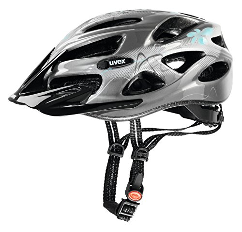 UVEX Damen Helm Onyx, Dark Silver-Light Blue, 52-57, 4145431715