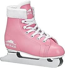 Lake Placid Starglide Girl's Double Runner Figure Ice Skate, Pink/White, 1