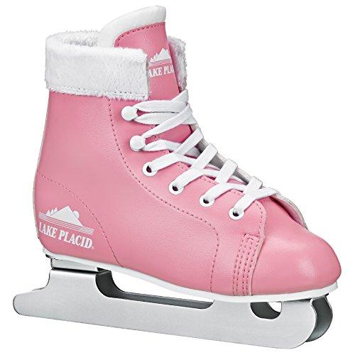Lake Placid Starglide Girl's Double Runner Figure Ice Skate, Pink/White, 2