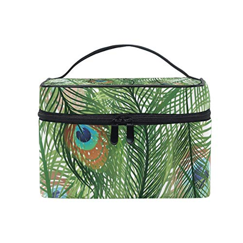The Feathers Cosmetic Bag Toiletry Travel Makeup Case Handle Pouch Multi-Function Organizer for Women