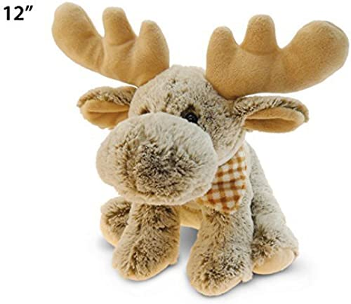 Puzzled Super Soft Floppy Moose Plush, 12  Getting Fit