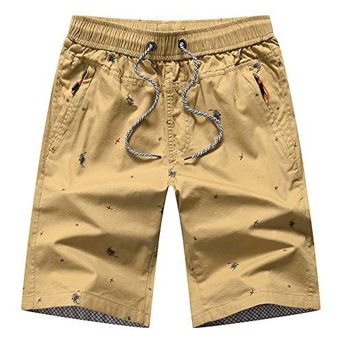 TSHULY Mens Casual Sports Joggers Gym Shorts Elastic Waist Pockets