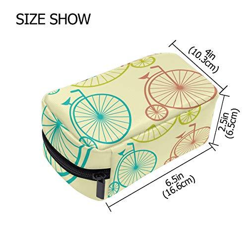 FANTAZIO Kosmetiktaschen für Damen Big Wheel Bike Make-up Taschen