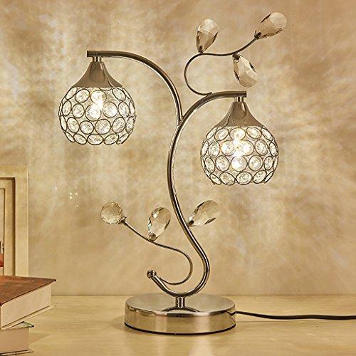 Led lampe de table en cristal décoration créative chambre à coucher lampe de chevet moderne minimaliste mariage coréen boudoir lampe de table de mariage