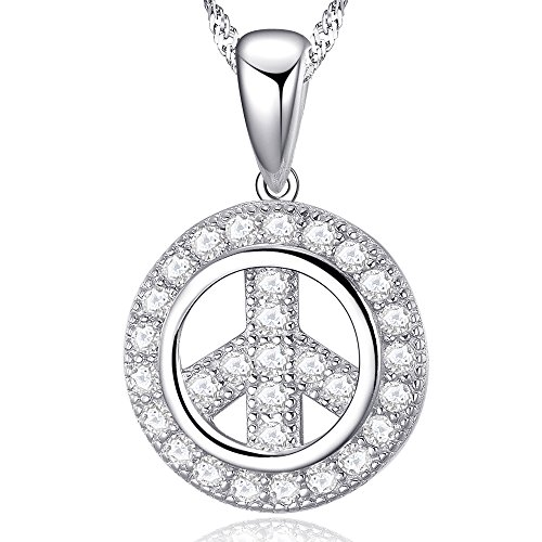 Ashley Jewellery World peace in argento sterling con ciondolo con pietre dure