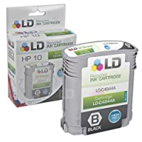 LD Remanufactured Hewlett Packard # 10インクカートリッジ: c4844 a HYブラック、c4841 aシアン、c4842 aイエロー、& c4843 aマゼンタ