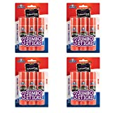 Elmers E579 Jumbo Disappearing Purple School Glue Stick (12 Count (1.4 oz))