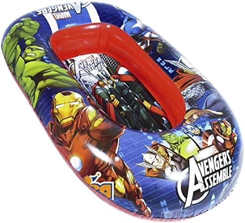 - Barco de los Vengadores Marvel inflable/bote para niños – Tamaño 120 x 80 cm – Fácil de inflar y desinflar – PVC termosellado resistente – Mar -