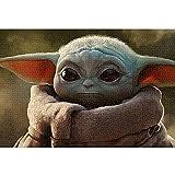 Rompecabezas de 1000 Piezas Baby Yoda Star Wars Movie Characters Puzzle de 1000 Piezas para Adultos Un Gran Regalo para Adultos y niños desafiantes Juegos de Rompecabezas 52x38cm