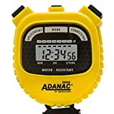 Marathon Adanac 3000 Digital Sports Stopwatch Timer with Extra Large Display and Buttons, Water Resistant (Yellow) (Renewed)